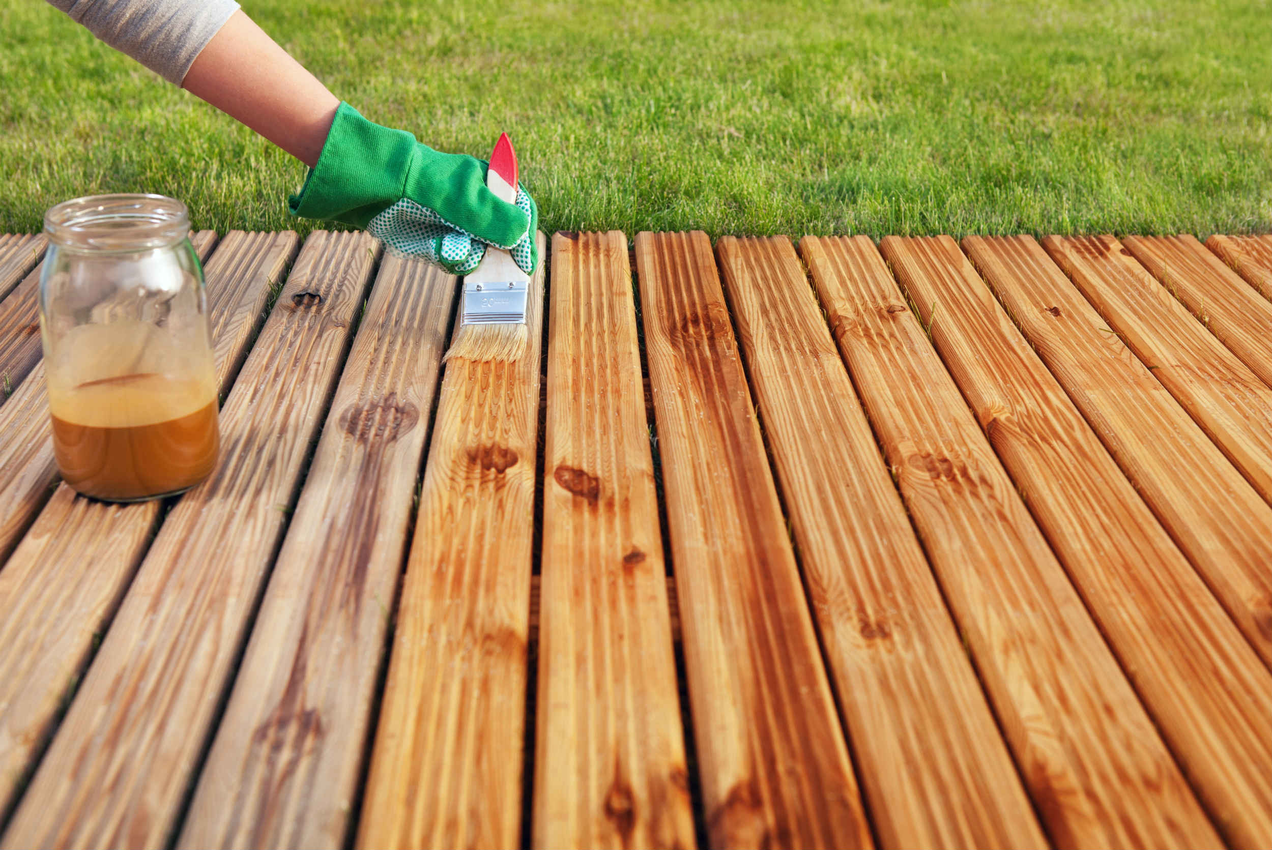 wooden deck painting