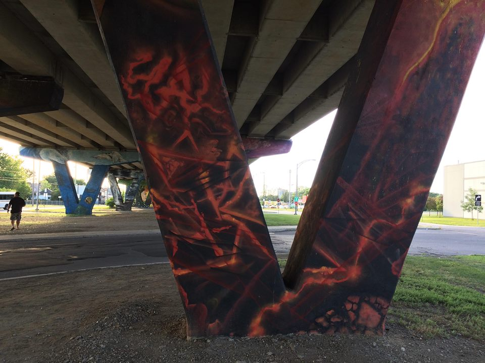 Graffiti pillar